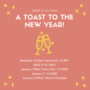 Seeds 13 New Years Class Schedule